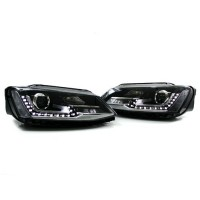 Jetta 6 Projector Headlights - Black Housing + Euro Hyblrid LED's