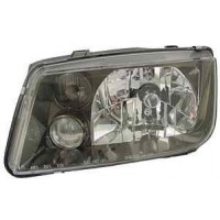 EC-00022 - MK4 Jetta E-Code Headlights with Foglight -  Black Housing
