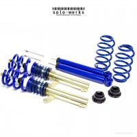 S1VW012 - Solo Werks S1 Coilover System - VW Audi MK7 Golf / GTI  Audi A3/S3 55mm Front Struts W/ Rear Multi-Link Suspension